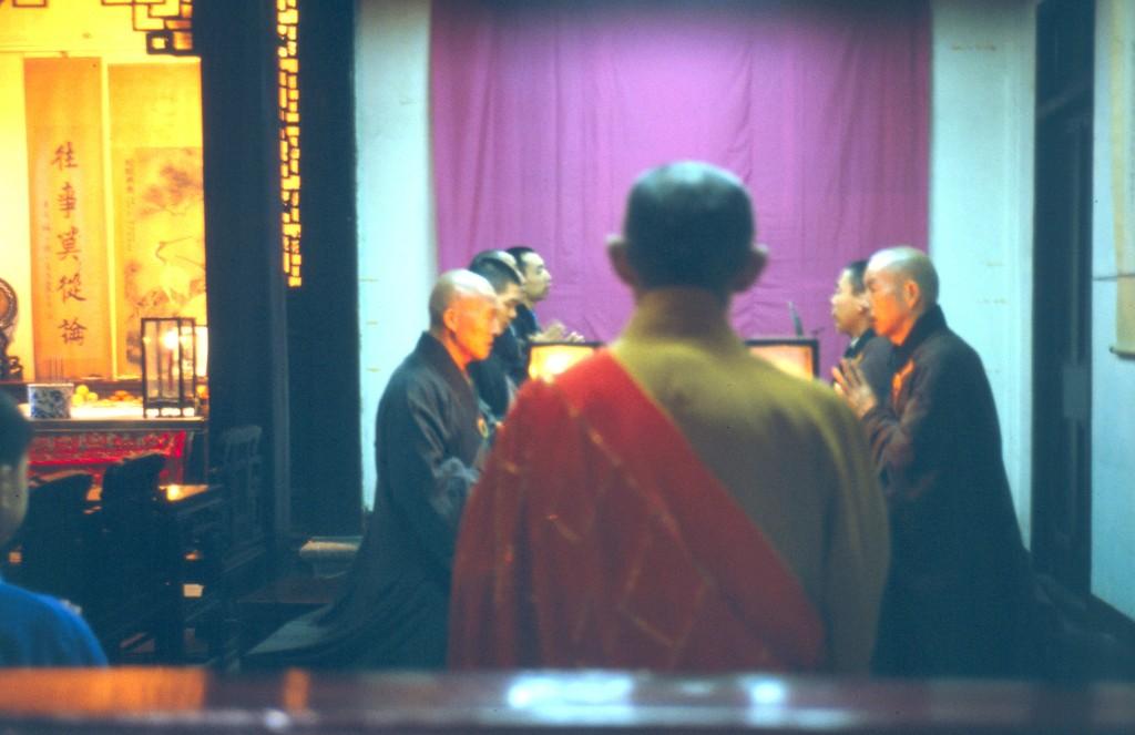 Zeremonie im Jadebuddha Tempel