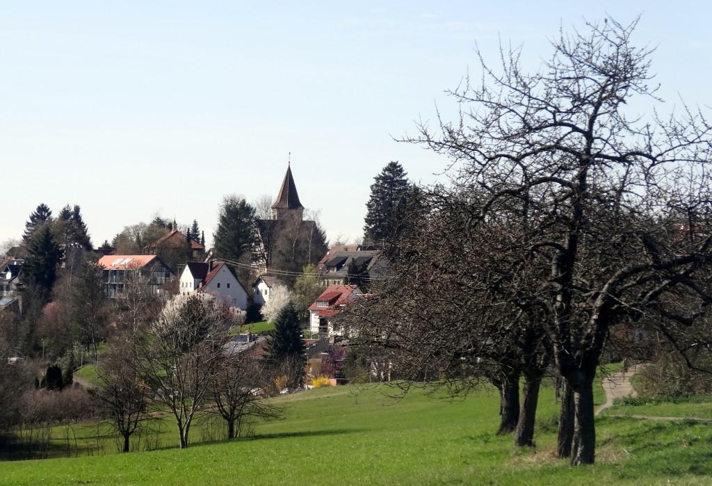 Buoch, in prominenter Höhenlage im Grünen