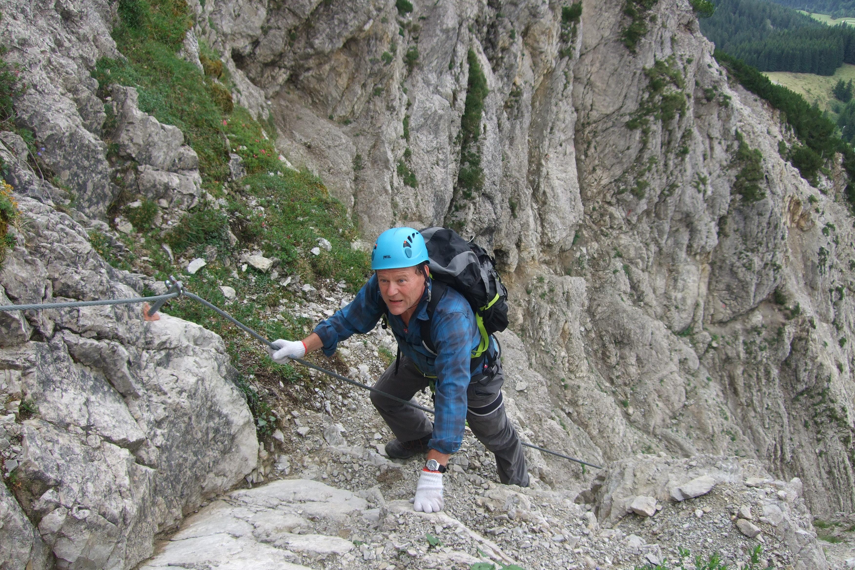 Klettersteig Salewa : Klettersteig touren mit bergführer in den alpen