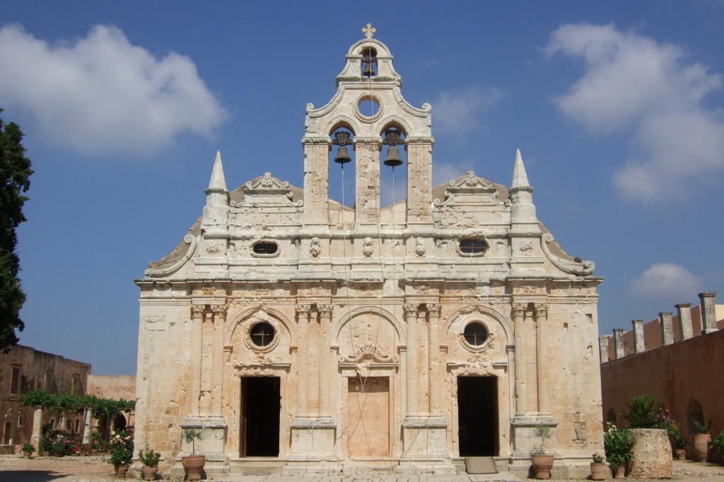 Wahrzeichen des Freiheitskampfes der Kreter: Die Klosterkirche von Arkadi