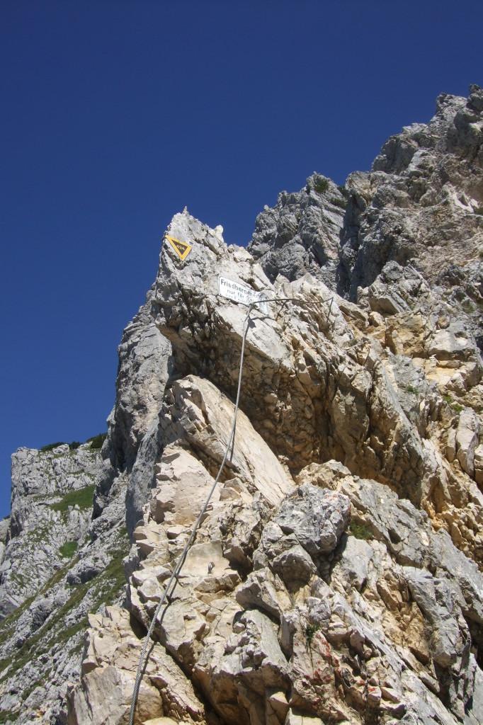 Friedberger Klettersteig, Schlusspassage