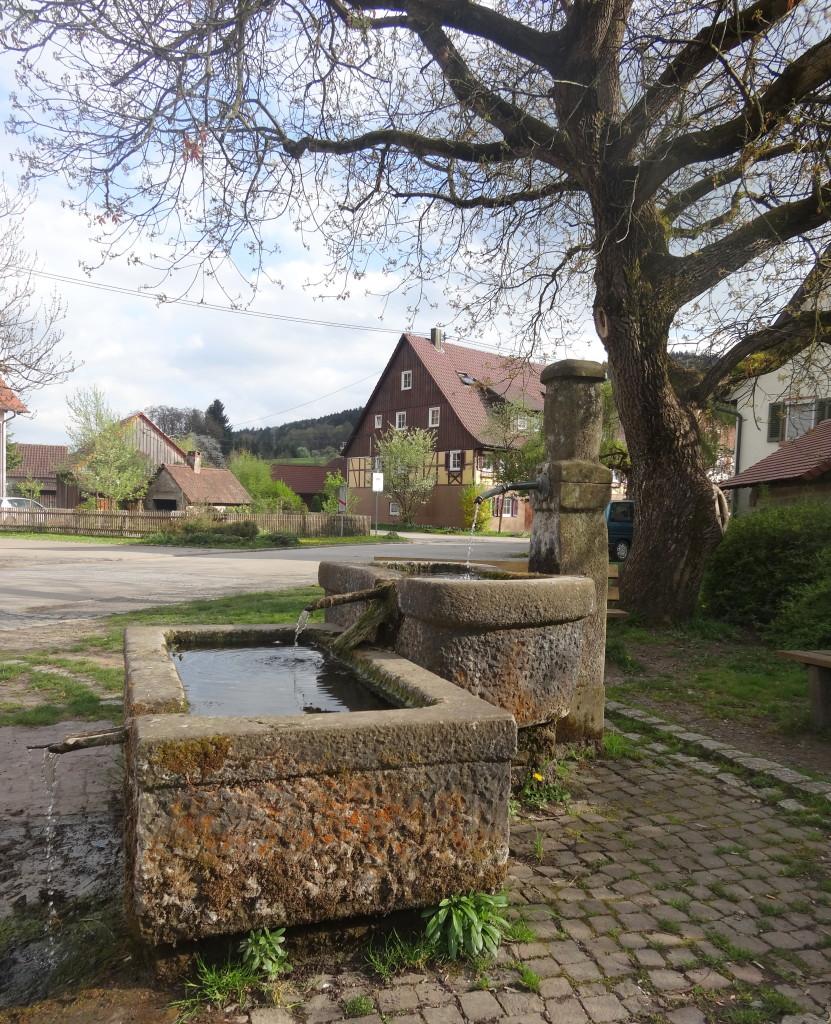 Auf dem Rückweg treffen wir bei Schleißweiler auf diesen schönen Brunnen