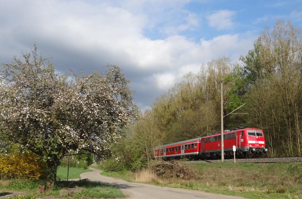 Auch die Bahn nutzt für ihre Trasse in Richtung Nürnberg das Murrtal