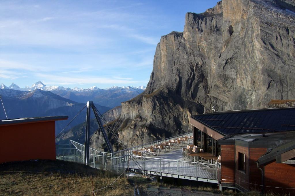 Seilbahn am Gemmi-Pass
