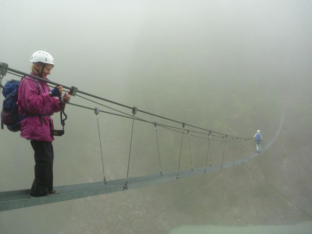Hängebrücke am Aletsch Klettersteig