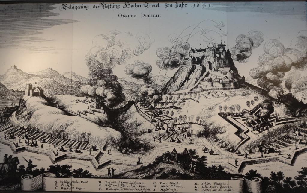 Hohentwiel, eine der größten Festungen Deutschlands