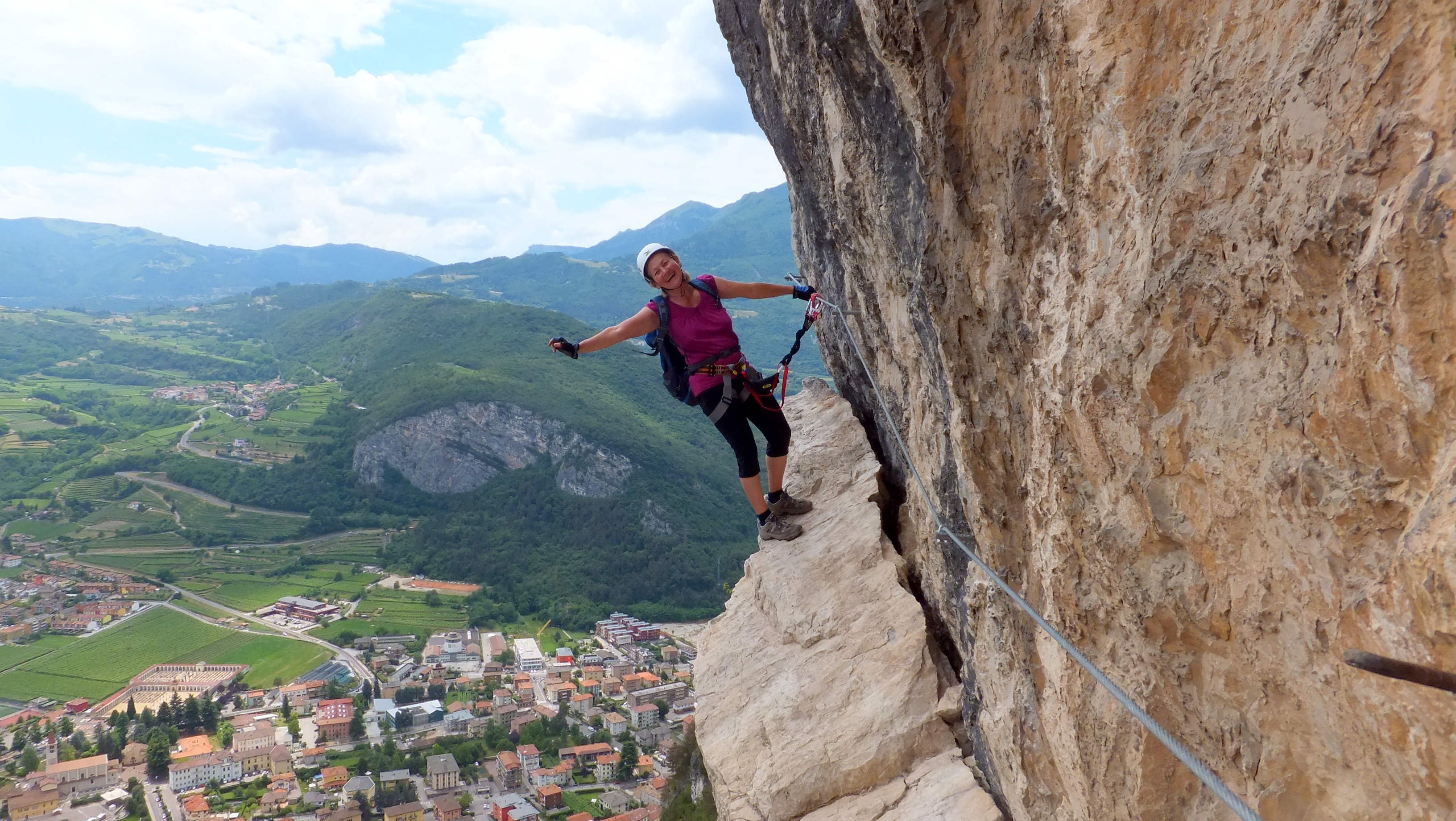 Klettersteig Gardasee : Monte albano che guevara gardasee lisa unterwegs