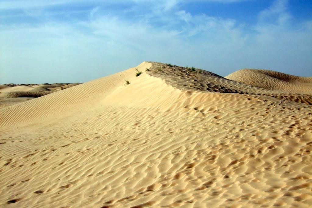 Nach kurzer Zeit schon gibt es nur noch Sand