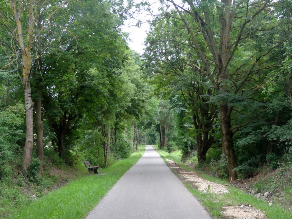 Filstalradweg auf der Trasse derehemaligen Filstalbahn