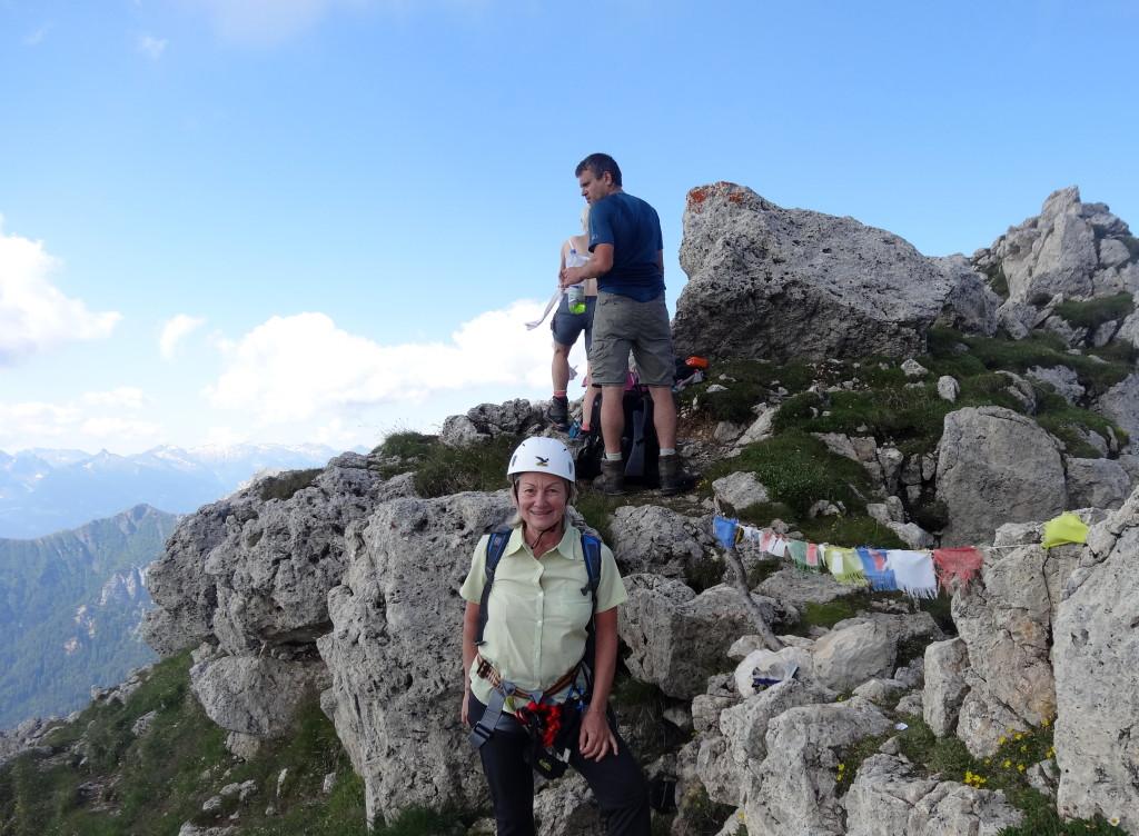 Einstieg Mazaré Klettersteig