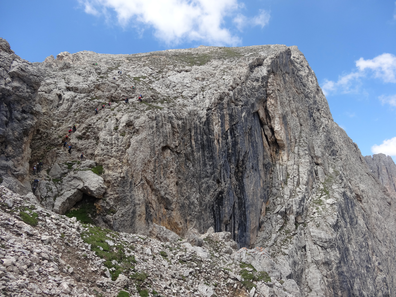 Klettersteig Rotwand : Klettersteig rotwand m rosengarten gruppe