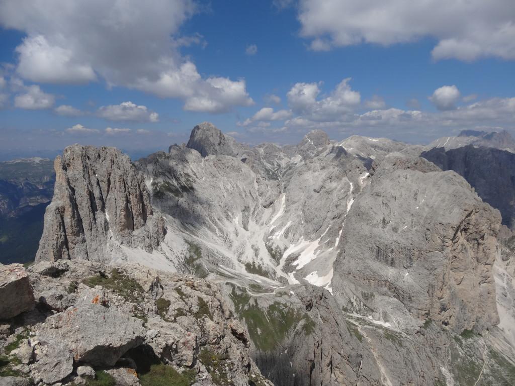 Gipfelblick zum Vajolon-Pass