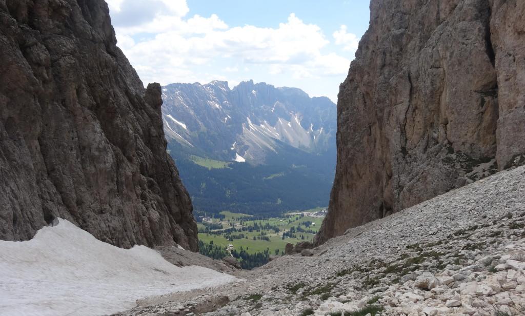 Abstieg vom Vajolonpass