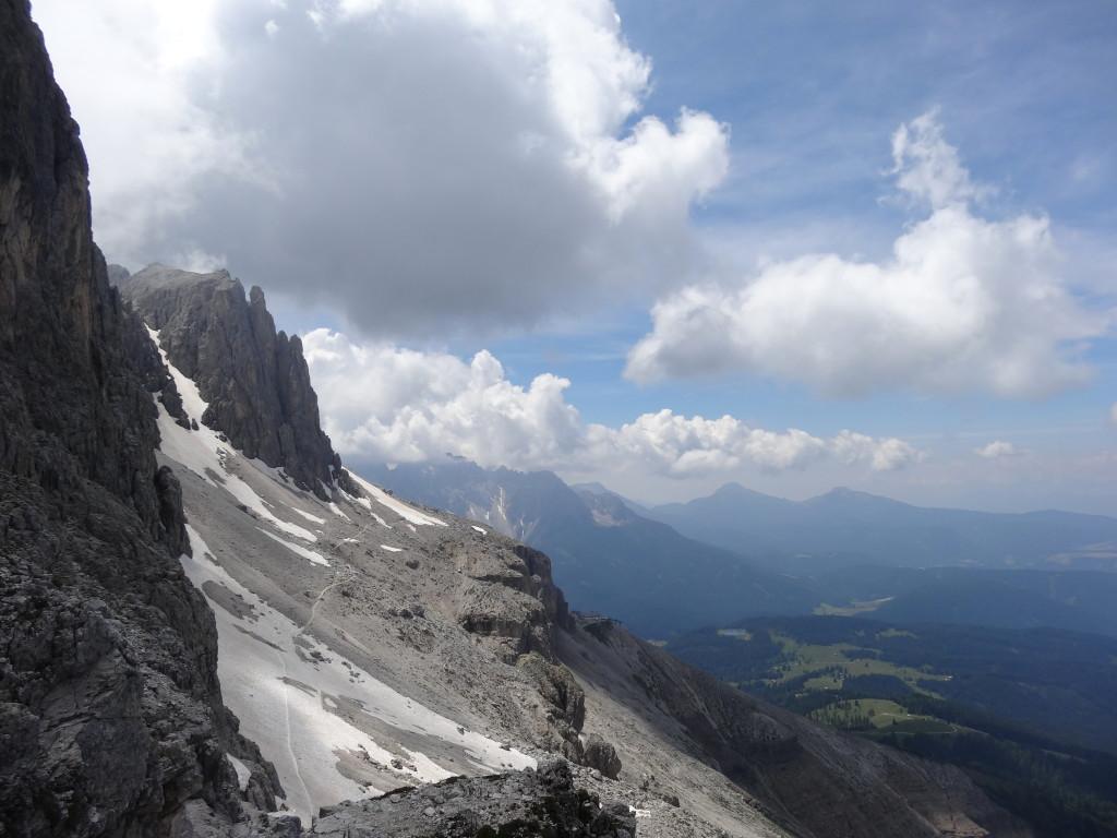 Zustieg Santnerpass-Klettersteig
