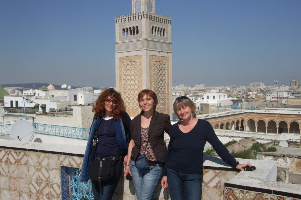 Die Große Moschee, mit Sabine, Irene und Lisa