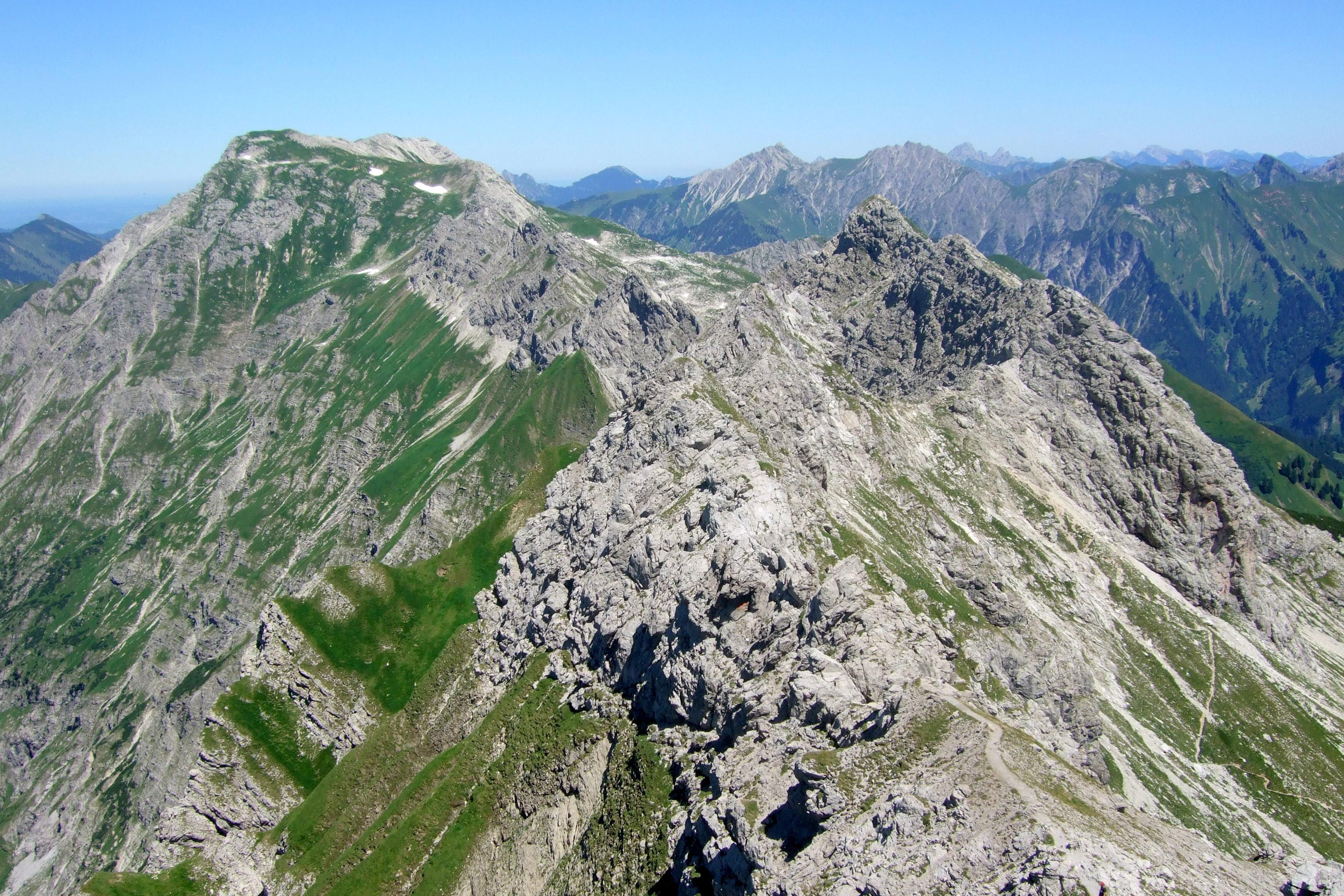 Klettersteig Nebelhorn : Hindelanger klettersteig allgäu lisa unterwegs