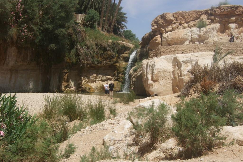Gleich neben dem kleinen Wasserfall von Tamerza befindet sich das schöne Hotel Cascade, das leider geschlossen ist. Zur Zeit sind zu wenig Besucher in Tunesien