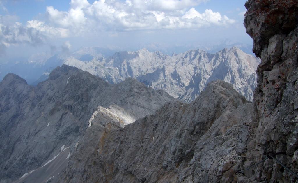 Jubiläumsgrat zur Alpspitze, Ende Klettersteig