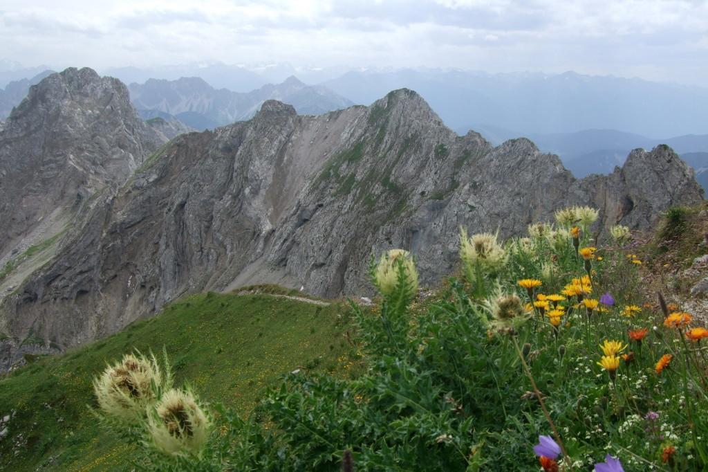 Mittenwalder Klettersteig, mittlereSektion