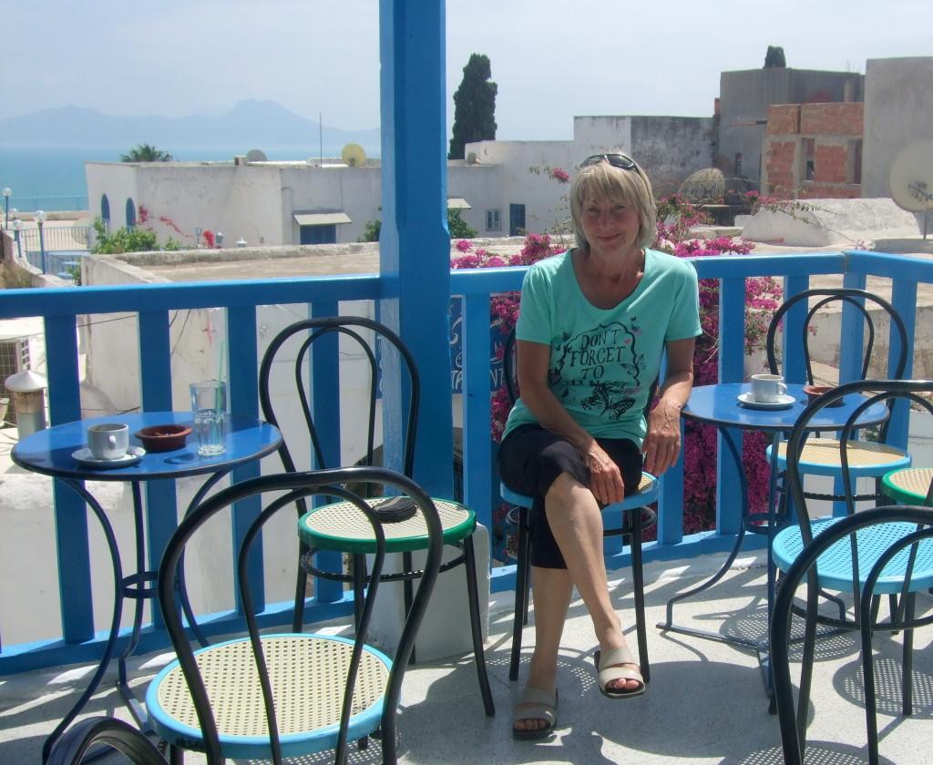 Das Cafe Nattes, berühmt durch August Macke´s Aquarell ´Blick auf eine Moschee´.