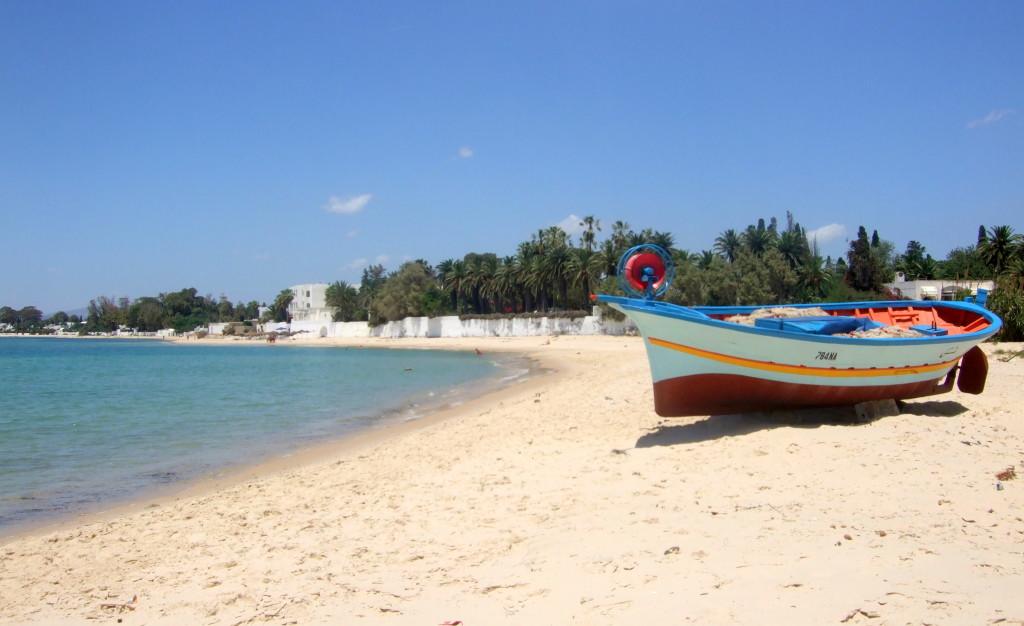Zum Abschluß unserer Tour gehts noch zum Kaffee trinken nach Hammamet. Wir geniessen einen Strandspaziergang...