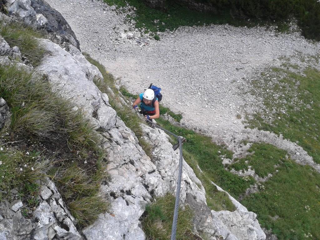 """Am Einstieg zum Loser Panorama-Klettersteig """"Sissi"""""""