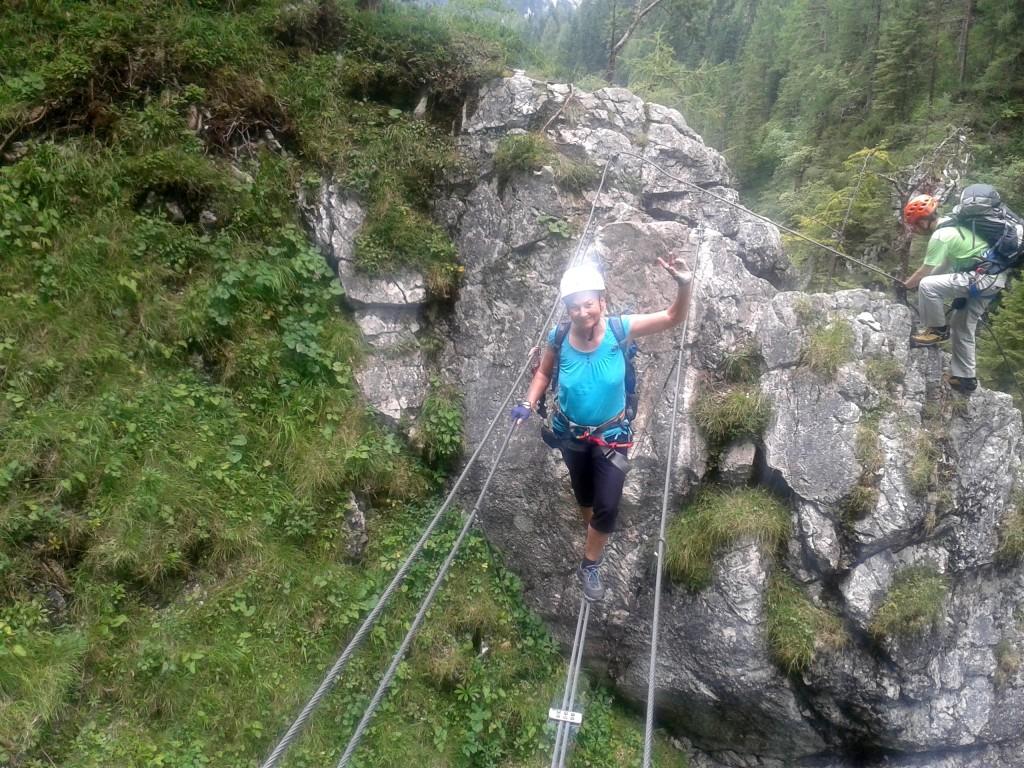 Zwei Klettersteige würzen die Klettersteig-Komposition
