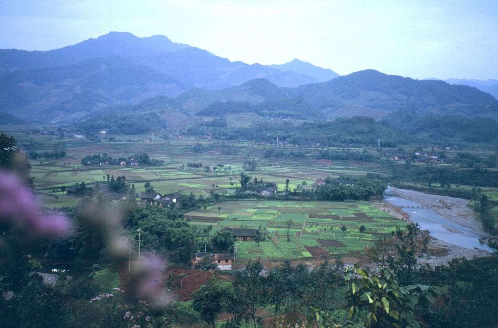 Fruchtbares Land in der Provinz Sezuan