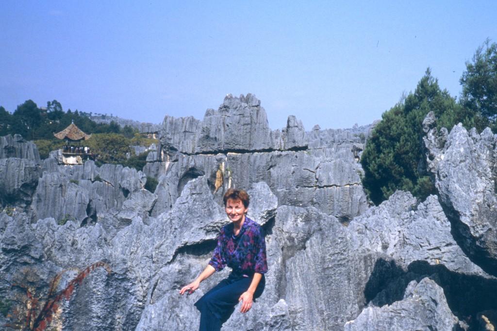 """Shilin, übersetzt """"Steinwald"""", ist eine etwa 120 km südöstlich von Kunming gelegene eindrucksvolle Karstlandschaft"""