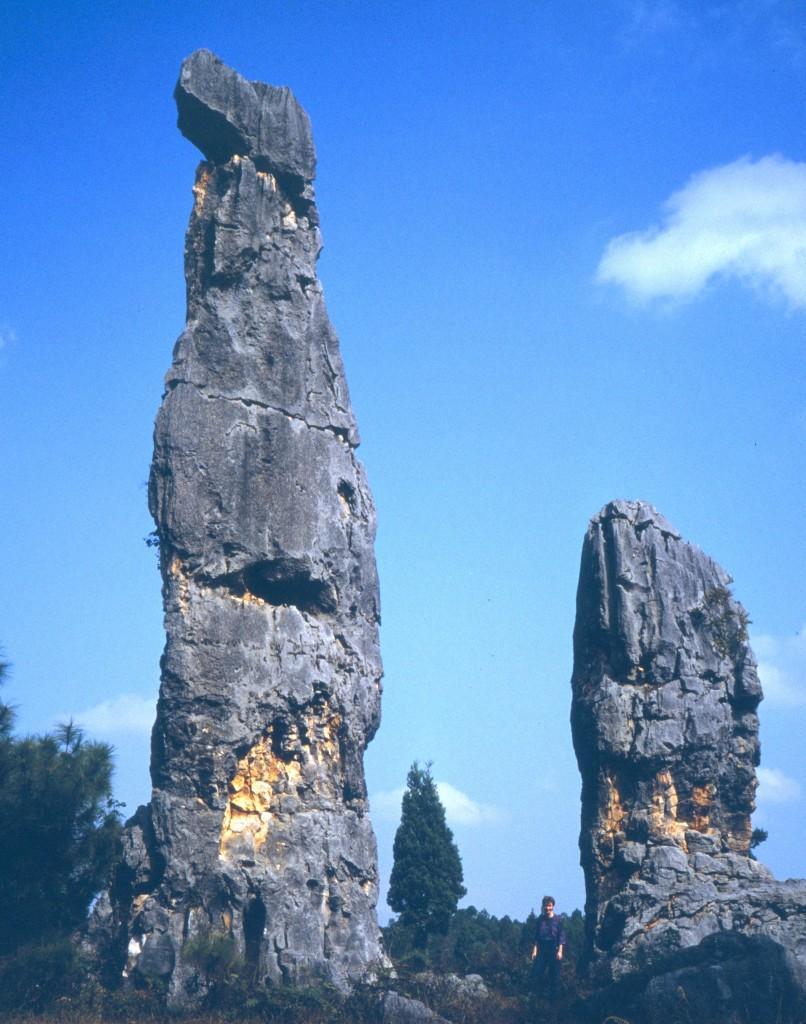 Die bis zu 30 Meter hohen Skulpturen wurden im Lauf der Zeit aus dem Stein herausgespült