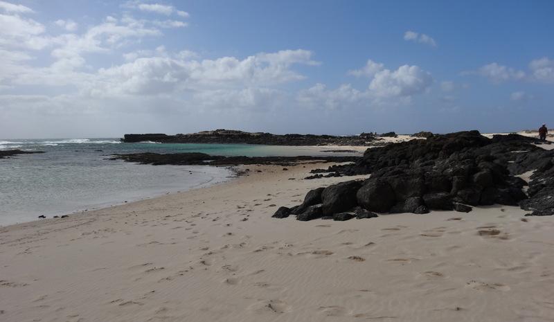 Eine schöne, sehr windige Wanderung führt uns an der Küste entlang von El Cotillo bis zum Leuchtturm Faro de Toston