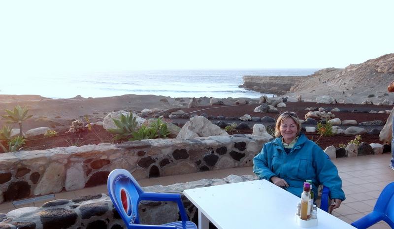 Ein schöner Abschluß unserer Tour: Abendessen mit Blick aufs Meer im Restaurand El Camello in La Pared