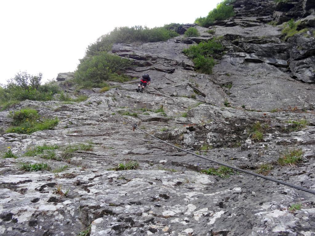 Genussvolles Klettern in schöner Kulisse