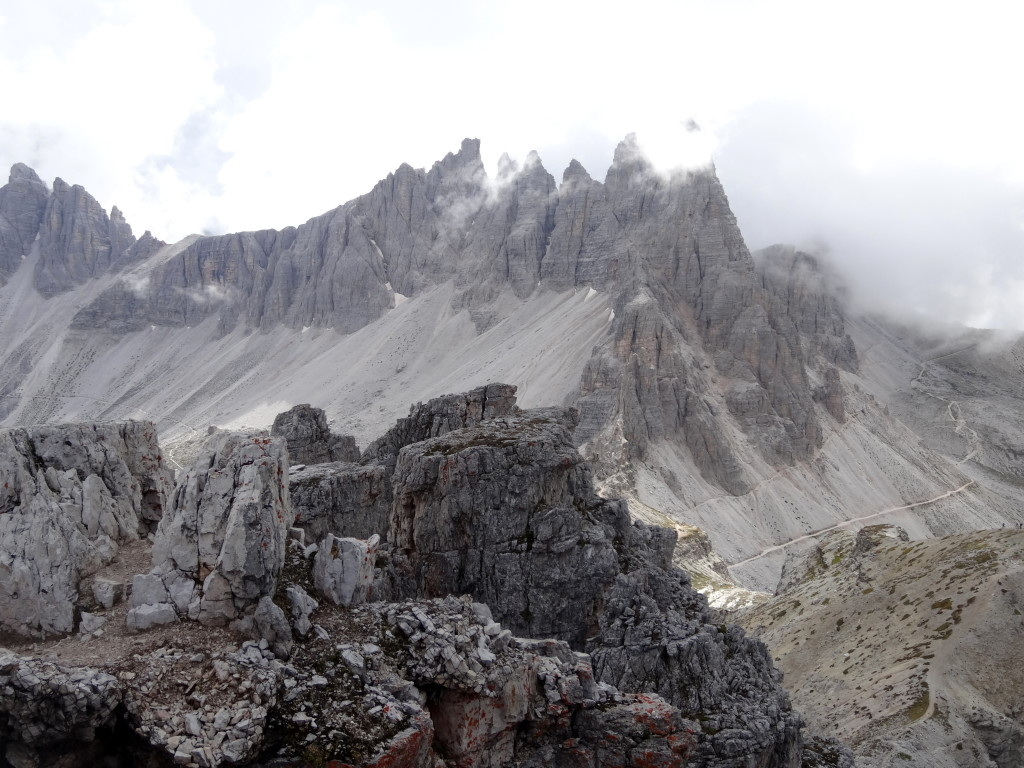 Gipfelblick vom Toblinger-Knoten Klettersteig
