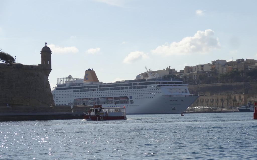 Valletta Waterfront, Kreuzfahrt-Hafen