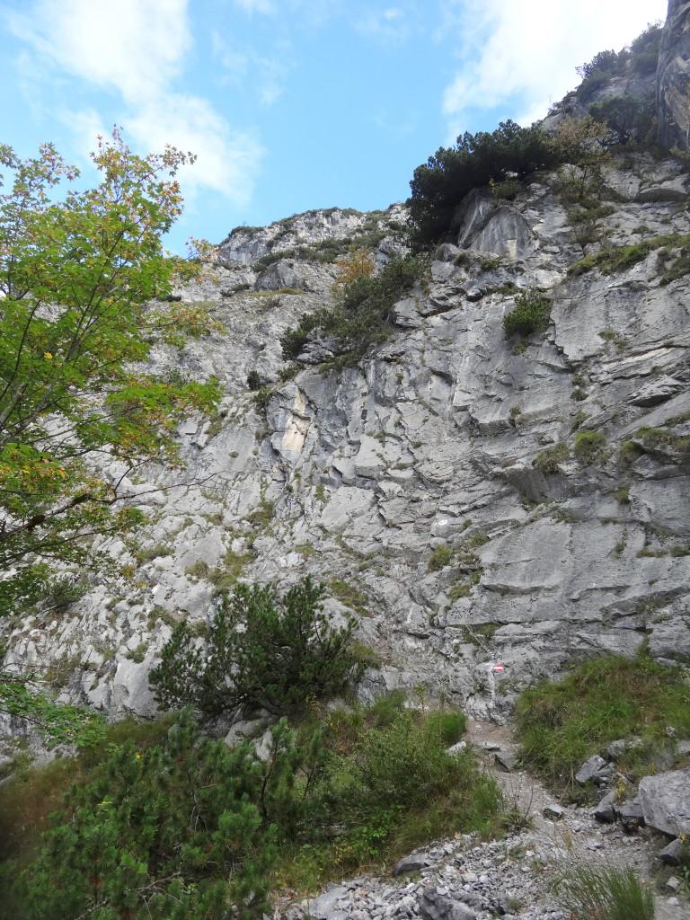 Einstieg Absamer Klettersteig