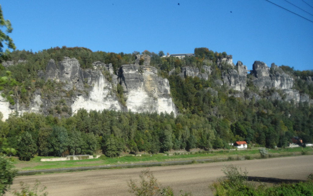 Bastei, aus dem Zug